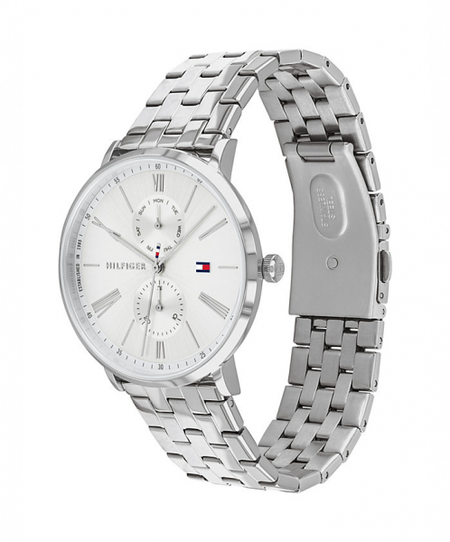 TOMMY HILFIGER Chronograph Armbanduhr DRESSED UP - SILBER